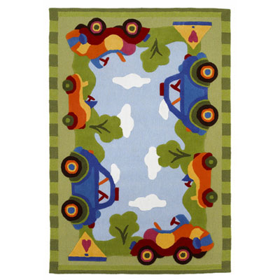 KAS Oriental Rugs. Inc. Kolorful Kidz 5 x 7 Ride In The Park 4116