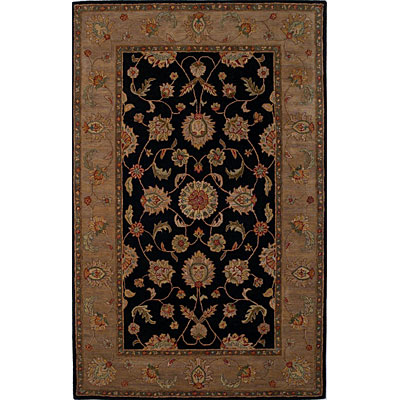 KAS Oriental Rugs. Inc. Lake Palace Runner 2 x 10 Lake Palace Black/Gold Agra 917