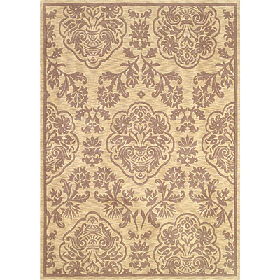 KAS Oriental Rugs. Inc. Legacy Transitional 5 x 7 Legacy Ivory/Coffee Damask Medallion 5956