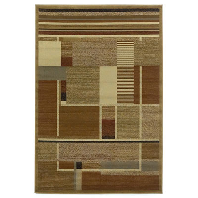 KAS Oriental Rugs. Inc. Lifestyles Contemporary 8 x 10 Beige Elements 5421