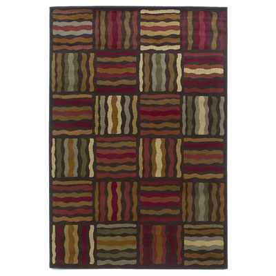 KAS Oriental Rugs. Inc. Lifestyles Contemporary 8 x 10 Mocha Geometric Waves 5423