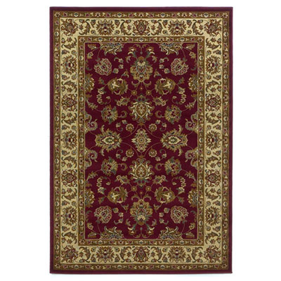 KAS Oriental Rugs. Inc. Lifestyles Traditional 5 x 8 Red Ivory Kashan 5431