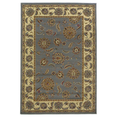 KAS Oriental Rugs. Inc. Lifestyles Traditional 5 Round Slate Ivory Kashan 5434