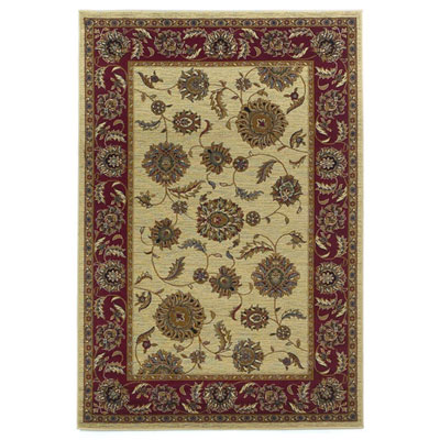 KAS Oriental Rugs. Inc. Lifestyles Traditional 5 x 8 Ivory Red Kashan 5435