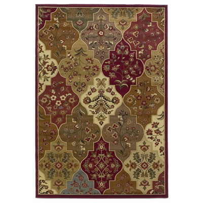 KAS Oriental Rugs. Inc. Lifestyles Traditional 5 x 8 Red Panel 5446