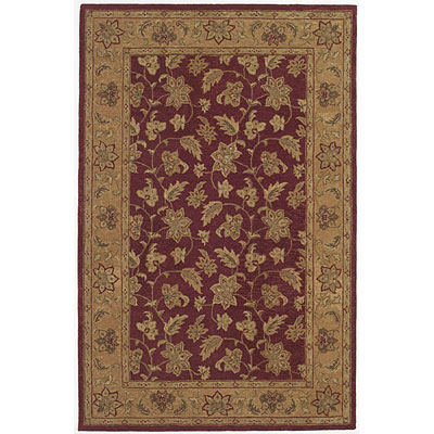 KAS Oriental Rugs. Inc. Patina 2 x 4 Patina Burgundy/Dk.Beige All-over Floral 8216