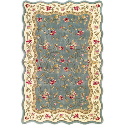 KAS Oriental Rugs. Inc. Providence Runner 2 x 7 Providence Slate Blue/Ivory Floral Vines 3905