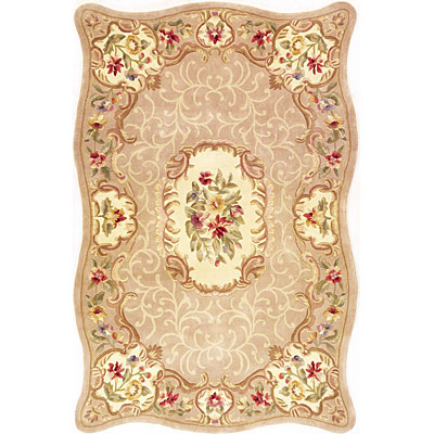 KAS Oriental Rugs. Inc. Providence 8 x 11 Providence Beige Floral Court 3925