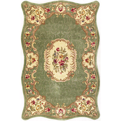 KAS Oriental Rugs. Inc. Providence 8 x 11 Providence Sage Floral Court 3926