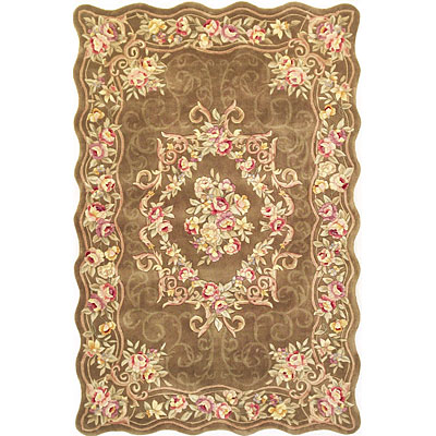KAS Oriental Rugs. Inc. Providence 8 x 11 Providence Mocha Floral Savonnerie 3934