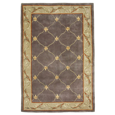 KAS Oriental Rugs. Inc. Ruby 8 x 11 Grey Blue Fleur De Lis 8926