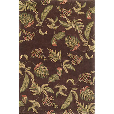 KAS Oriental Rugs. Inc. Ruby Runner 2 x 7 Ruby Mocha Tropic Surprise 8892