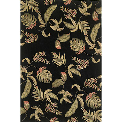 KAS Oriental Rugs. Inc. Ruby Runner 2 x 7 Ruby Black Tropic Surprise 8893