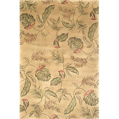 KAS Oriental Rugs. Inc. Ruby Runner 2 x 7 Ruby Ivory Tropic Surprise 8894