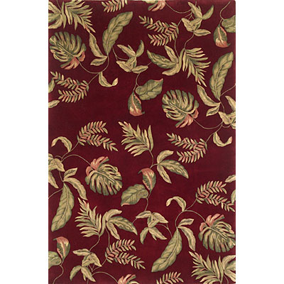 KAS Oriental Rugs. Inc. Ruby Runner 2 x 7 Ruby Ruby Tropic Surprise 8895
