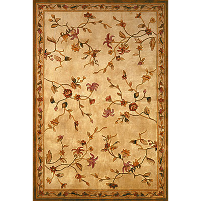KAS Oriental Rugs. Inc. Ruby 3 x 5 Ruby Ivory/Ivory Floral Delight 8920