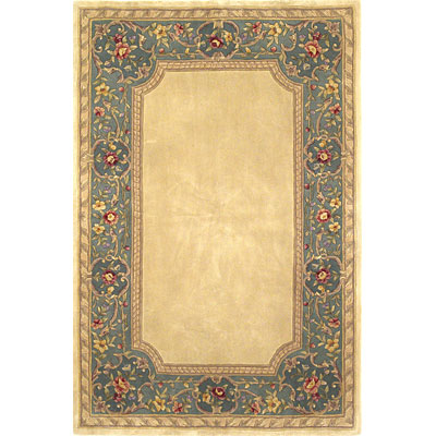 KAS Oriental Rugs. Inc. Ruby Runner 2 x 7 Ruby Ivory/Blue English Framework 8925