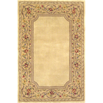 KAS Oriental Rugs. Inc. Ruby 3 x 5 Ruby Ivory/Gold English Framework 8934