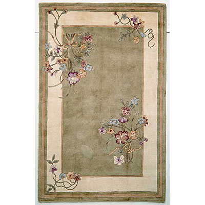 KAS Oriental Rugs. Inc. Ruby Runner 2 x 7 Ruby Sage Bouquet 8937