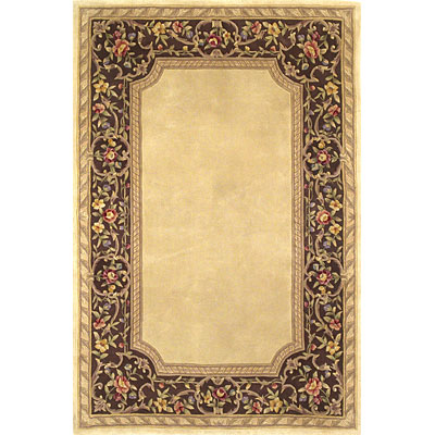 KAS Oriental Rugs. Inc. Ruby Runner 2 x 9 Ruby Ivory/Mocha English Framework 8938