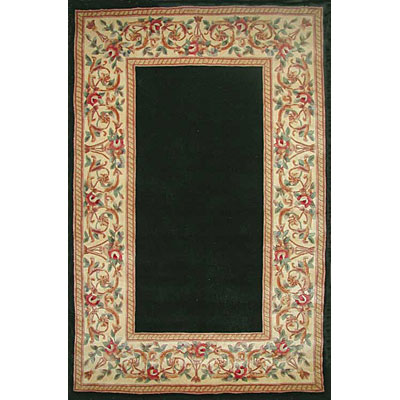 KAS Oriental Rugs. Inc. Ruby 8 x 11 Ruby Black Floral Border 8941