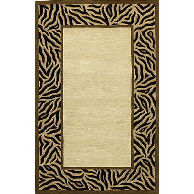 KAS Oriental Rugs. Inc. Sahara 2 x 3 Sahara Beige Tiger Stripes Border 4409