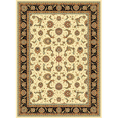 KAS Oriental Rugs. Inc. Seville 7 Round Seville Ivory/Black Mahal 7408