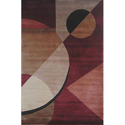KAS Oriental Rugs. Inc. Signature 8 Round Signature Rust Contemporary 9015