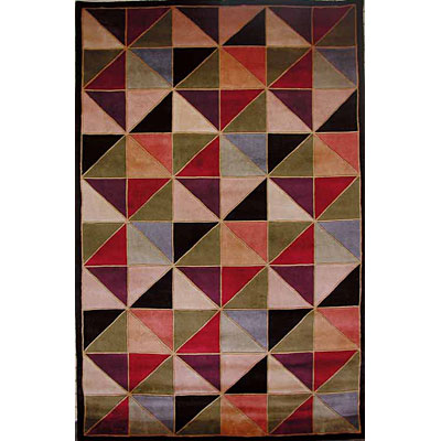 KAS Oriental Rugs. Inc. Signature 5 x 8 Signature Multi-Color Kaleidescope 9056