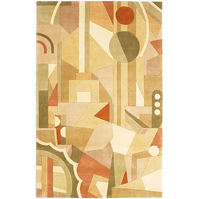 KAS Oriental Rugs. Inc. Signature Runner 2 x 8 Signature Beige City Skyline 9122