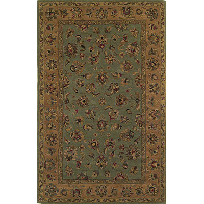 KAS Oriental Rugs. Inc. Sonoma 4 Round Sonoma Green/Peach All-over Kashan 2902