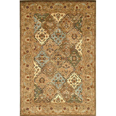 KAS Oriental Rugs. Inc. Taj Palace 2 x 4 Taj Palace Multi/Coffee Panel 8732
