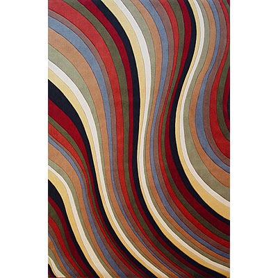 KAS Oriental Rugs. Inc. Tate 2 x 3 Tate Multicolor Waves 8502