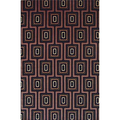 KAS Oriental Rugs. Inc. Tate 5 x 8 Tate Black City Grid 8510