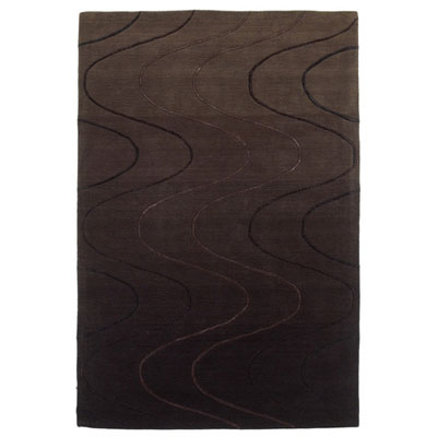 KAS Oriental Rugs. Inc. Transitions 5 x 8 Transitions Espresso Waves 3331