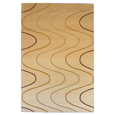 KAS Oriental Rugs. Inc. Transitions 5 x 8 Transitions Beige Waves 3333