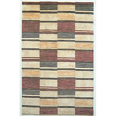 KAS Oriental Rugs. Inc. Valencia 5 x 8 Valencia Ivory & Red Striped Boxes 264