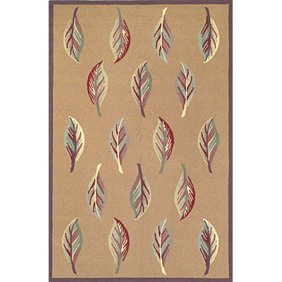 KAS Oriental Rugs. Inc. Veranda 8 x 10 Veranda Caramel/Brown Leaves 1375