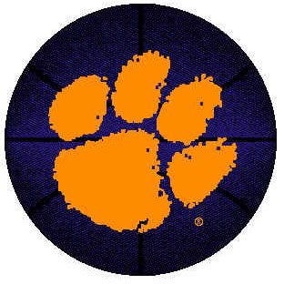 Logo Rugs Clemson University Clemson Basketball 4 ft CLBB2