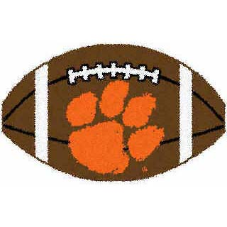 Logo Rugs Clemson University Clemson Football 2 x 2 CLFB