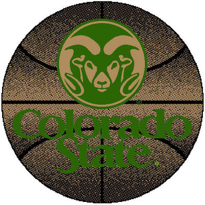 Logo Rugs Colorado State University Colorado State Basketball 4 ft CSBB2