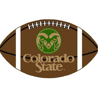 Logo Rugs Colorado State University Colorado State Football 3 x 6 CSFB2