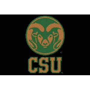 Logo Rugs Colorado State University Colorado State Entry Mat 2 x 2 CSEM1