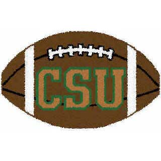 Logo Rugs Colorado State University Colorado State Football 2 x 2 CSFB