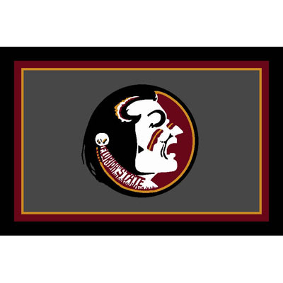 Logo Rugs Florida State University Florida State Area Rug 4 x 6 FSAR6