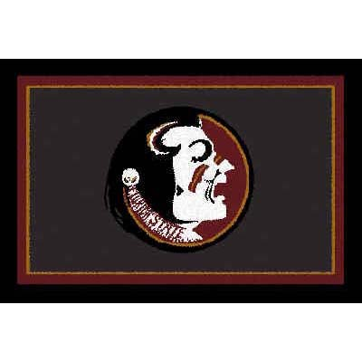 Logo Rugs Florida State University Florida State Area Rug 3 x 5 FSAR5