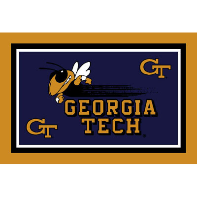 Logo Rugs Georgia Tech University Georgia Tech Area Rug 3 x 5 GTAR3