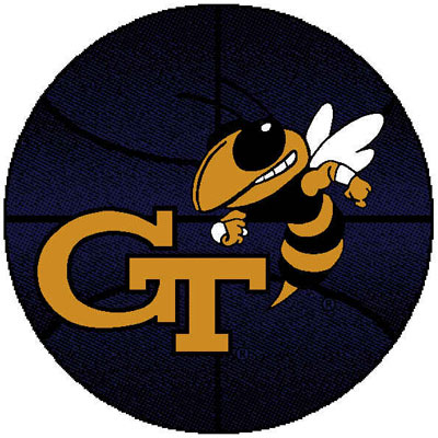 Logo Rugs Georgia Tech University Georgia Tech Basketball 4 ft GTBB2