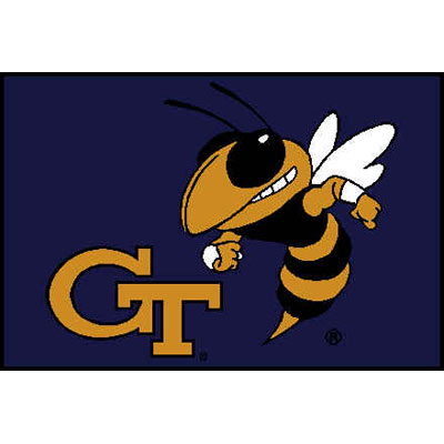 Logo Rugs Georgia Tech University Georgia Tech Entry Mat 2 x 2 GTEM1