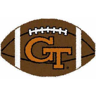 Logo Rugs Georgia Tech University Georgia Tech Football 2 x 2 GTFB